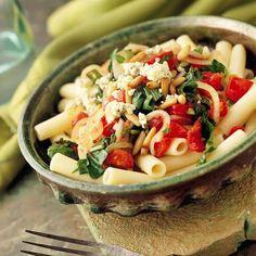Fresh Tomato and Arugula Pasta.
