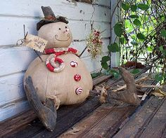 cute primitive snowman Kentucky Primitives