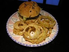 baked onion rings, I used panko instead of breadcrumbs