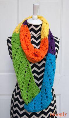 Free Crochet Pattern: Neon Dreams Infinity Scarf - moogly