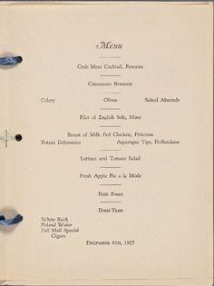 National Vaudeville Artists Club House, December 8 1927  http://menus.nypl.org/menu_pages/64375