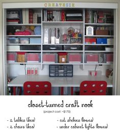 Craft Closet How To Convert A Closet Into A Craft Nook