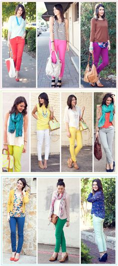 we love Kendi from Kendi Everyday's colored denim obsession #summer