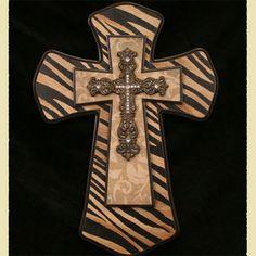 painted wood cross