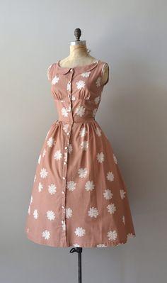 vintage 1950s dress / cotton 50s dress / Spiroflower by DearGolden, $224.00