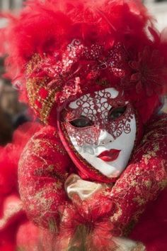 Gorgeous red mask.  Look at this detail.