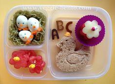 Back To School Ducky Lunch  #bento #easylunchboxes #vegetarian
