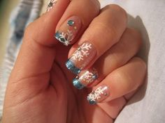 snowflake nail art designs christmas