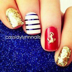 Bedazzled: Super cute summer nail design #DIY #NailsForSummer