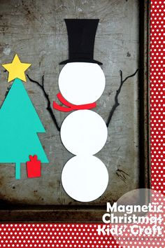 Magnetic Christmas Kids Craft -my kids would love this!