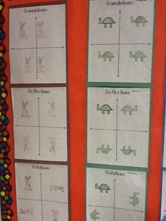 thenumbertwentyone | teaching middle school math. Reflection and coordinate graphing all 4 quadrants