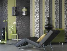 Black gray & green
