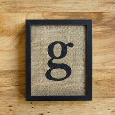 Letter G for wall collage