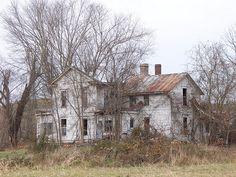 Large abandoned farm house near Vinton, Ohio.