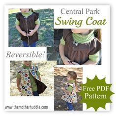 The Central Park Swing Coat | Free Pattern for a Reversible Swing Coat by The Mother Huddle