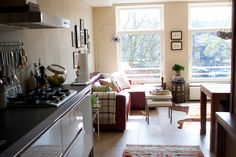 kitchen and living room (amsterdam)