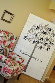 decor, wall art, craft, family trees, famili tree, families, wood pallets, wood walls, art pieces