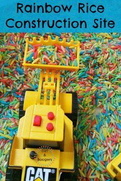Rainbow Rice Construction Site for Kids -