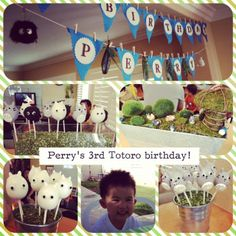 Totoro themed garden party