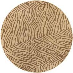 106   Picnic Brown Animal Rug (7'3 Round)