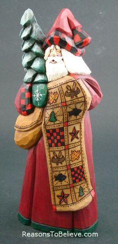 Lodge Quilt Santa - David Francis