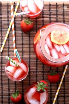 Strawberry Lemonade Iced Tea