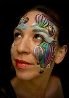 face paintings, facepaint, hot air balloons