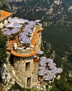 Cliffside Cafe Gourdon, France