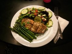 Baked Salmon with bl