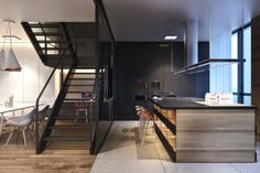 Modern House Design 5 Cozy Apartment Exhibiting Diverse Textures in Kiev: House S