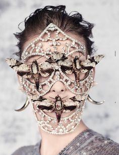 moth face butterfli, fashion, tiara, makeup, diamond, bug, blog, insect, face masks