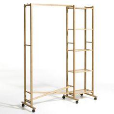 Portant pliable 3 positions + 4 étagères, bambou, La Redoute, 130 €