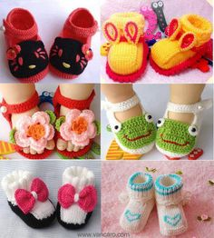 Inspiration - Crochet Baby Shoes