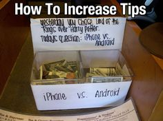 how to increase tips...haha!