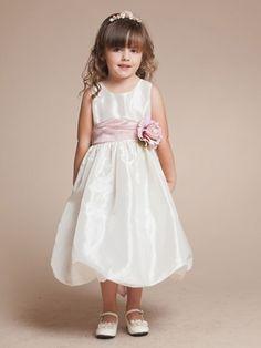 Classy Taffeta Short Bubble Skirt Flower Girl Dress