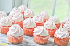 Strawberry Cupcakes with Ice Cream Buttercream