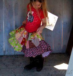PENNY patchwork twirl skirt - pdf tutorial - ebook - 12M -8Y. $7.00, via Etsy.