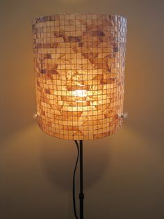 Lampshade made with Coffee Filters  by Lampada,
