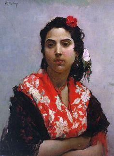 Raimundo de Madrazo y Garreta (Spanish 1841–1920) [Salon, Portraiture] Gitana. Oil on canvas. Prado Museum.