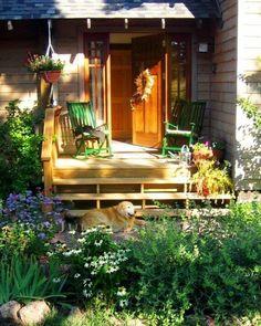 small porch, garden art, garden doors, back porches, flowers garden, front porches