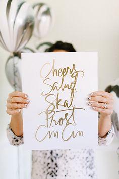 Calligraphy Anna Robin | photo by Erin Hearts Court