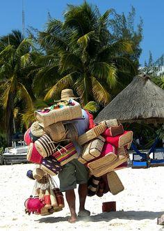 Vendors on the beach!