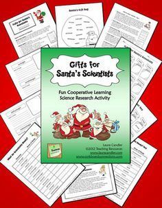 Gifts for Santa's Scientists is a fun, multi-day cooperative learning lesson in which students research 12 types of scientists to learn about their areas of study. Then they share and discuss their research information with their teams. The culminating activity involves matching 12 scientists' names with the appropriate gifts in Santa's bag. $