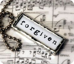 Knowing I'm forgiven gives me freedom from guilt and fear