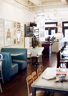 love this space! (moomah cafe in nyc)