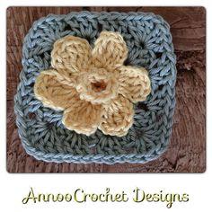 Spring daffodil granny (pattern) by Annoocrochet blog