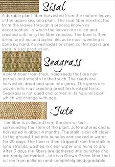 Jute and Seagrass rugs
