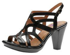 Indigo Calabria Black 87872 Women's Sandal Shoes | Walking On A Cloud