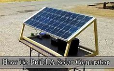 How To Build A Solar Generator http://www.livinggreenandfrugally.com/build-solar-generator/