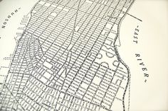 Letterpress map of New York using the street names as cartographic outlines: http://goo.gl/28EVg